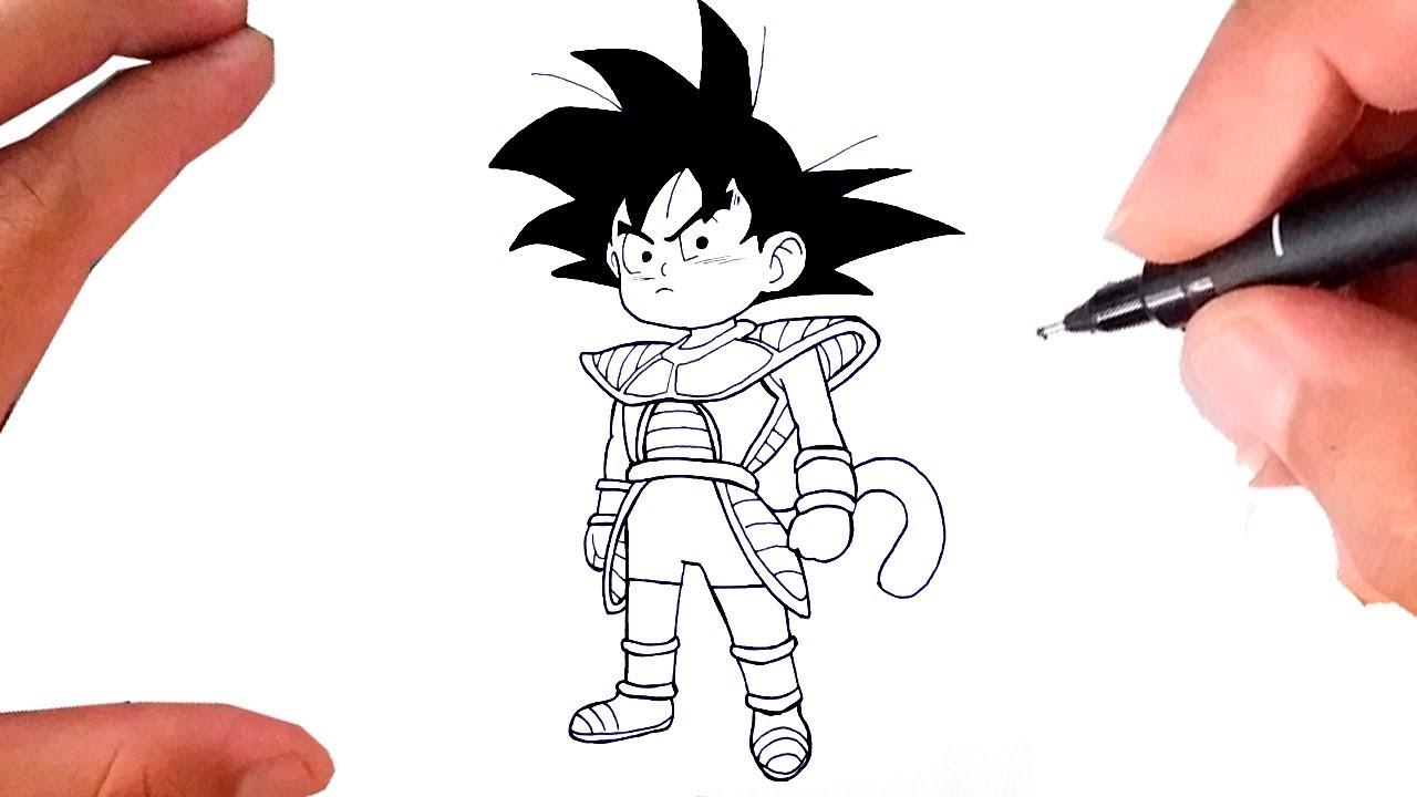 Como Desenhar O Goku Crianca Dragon Ball Super Broly Youtube