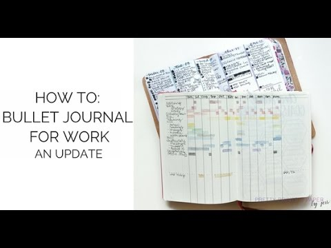 how to bullet journal for work an update youtube. Black Bedroom Furniture Sets. Home Design Ideas