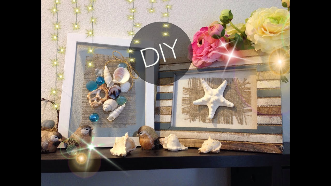diy romantic seashell frames the beach frames youtube