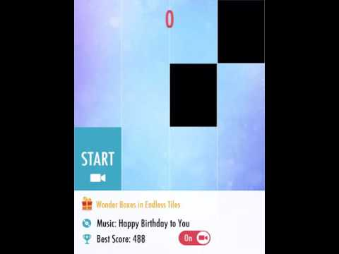 Happy birthday to you: piano Tiles 2 background music