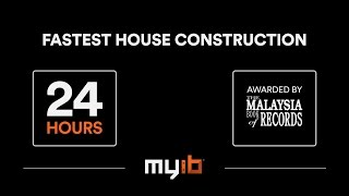 Fastest House Construction in 24 HOURS! (Using MyIB Interlocking Bricks Technology)
