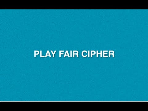 Play Fair Cipher : Type of Encryption Decryption Method | Poly-alphabetic Substitution Cryptography
