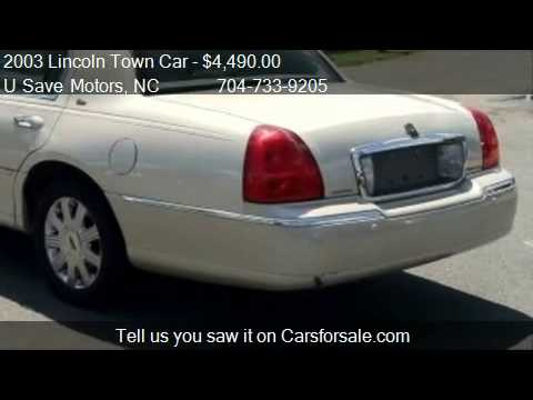 2003 Lincoln Town Car Cartier For Sale In Charlotte Nc 28 Youtube