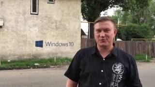 Наружная реклама в г. Алматы. Обзор трафаретной рекламы на стенах здания.