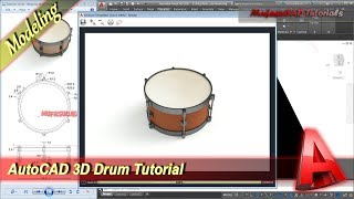 AutoCAD 3D Modeling Drum Tutorial Exercise 39