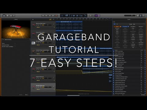 Garageband Tutorial (Beginners) - How to make a Song Using Loops | JustBecause