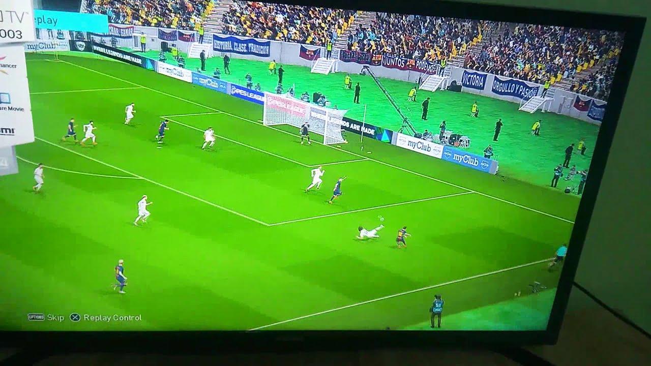 L.Suarez goal in Real Madrid (PES18)