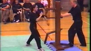 Female Wing Chun Master Level 10 Wooden Dummy