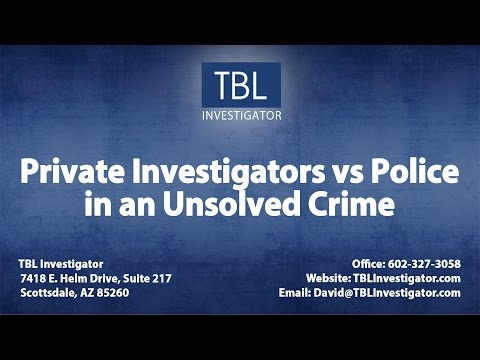 Private Investigators vs Police in an Unsolved Crime   TBL Investigator