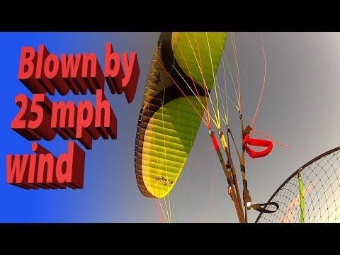Paramotor Flight #11 Blown back 20-25 mph wind Cross Country