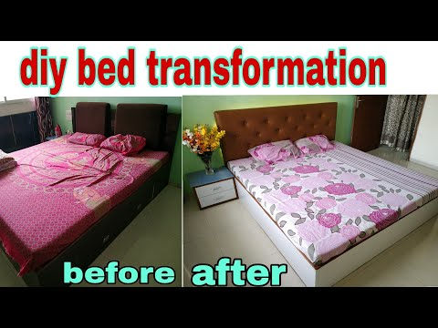 DIY!give new look to old furniture😲!complete bed transformation!कैसे मैंने bed का design बदल दिया!