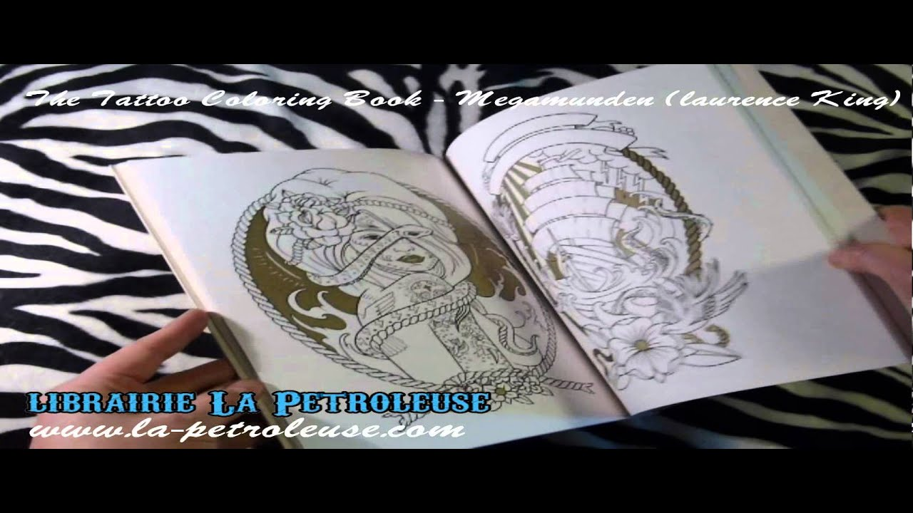 The coloring book tattoo - Livre Book The Tattoo Coloring Book Oliver Munden Jo Waterhouse Laurence King