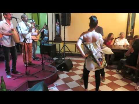 Dancing with Septeto Santiaguero @ Casa de la Trova in Santiago de Cuba