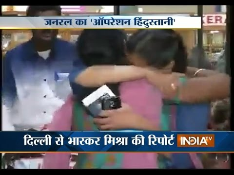 Operation Rahat: VK Singh Gets Heroic Welcome upon Return from Yemen - India TV