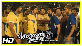 Chennai 600028 II Movie Scenes | Jai's team wins the match | Akash challenges Vaibhav | Shiva