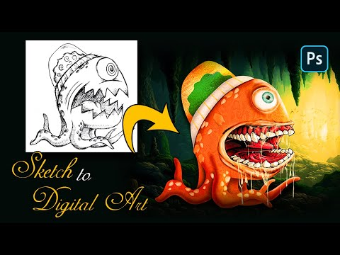 PHOTOSHOP HACK: Sketch to Digital Art – FAST AND EASY!