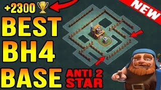 Best Builder Hall 4(BH4) For Versus Battle Tested At 2300+ Trophy | Clash of Clans New Update 2017