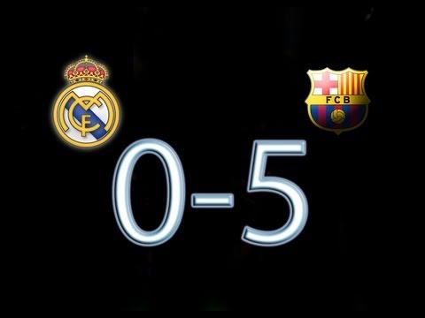 real madrid vs fc barcelona el clasico 0 5 all goals hd
