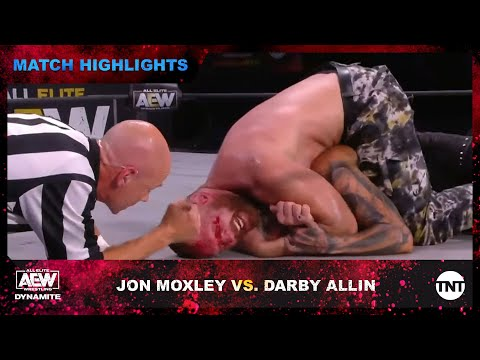 Jon Moxley and Darby Allin Clash in AEW World Championship Match