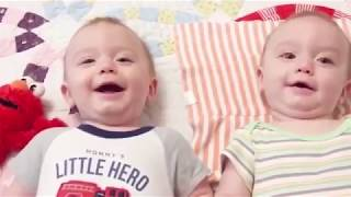 Cutest Baby Family Moments - Fun and Fails Baby Video. اطفال توأم مضحكين