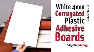 White 4mm Corrugated Plastic Adhesive Boards
