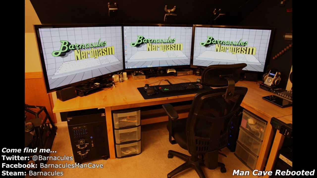 Best gaming room tour pc xbox 360 racing simulator huge How to make a gaming setup in your room