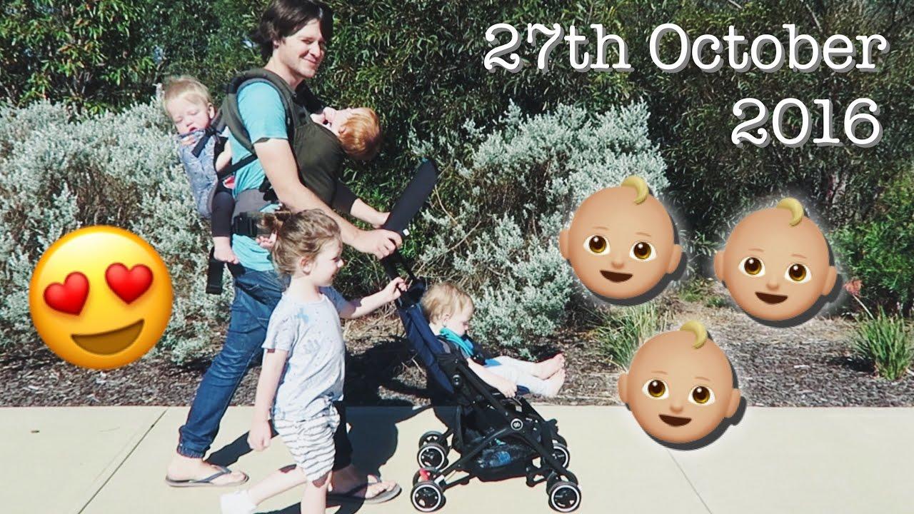 c84152211ef5 Tandem Babywearing Triplet Daddy! - YouTube
