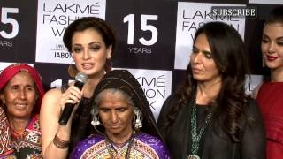Dia mirza walks at lakme fashion week 2015