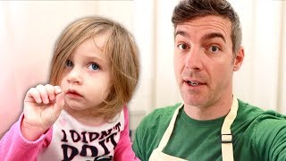 Toddler Makes Huge Mess in the Kitchen