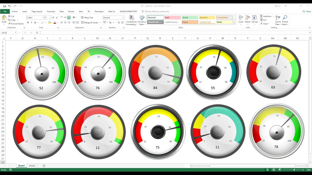 how to prepare dashboard in excel 2010