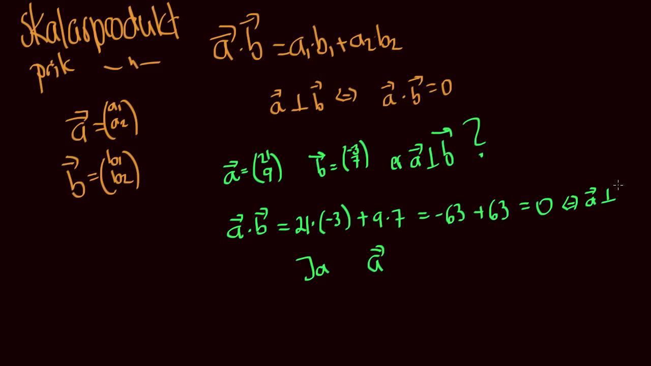Skalarprodukt skrift dimension