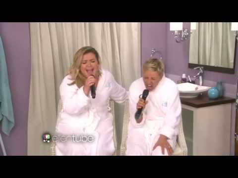 Ellen & Kelly Clarkson - Since U Been Gone (Bathroom Concert Series)