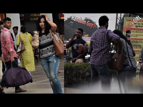 Drunk Girl On Delhi Streets | Find Out What Happens (Social Experiment) AVRprankTV