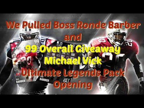 Madden 16 - We Pulled Boss Ronde Barber!!!!!! + 99 OVR Giveaway Michael Vick