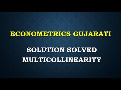 ECONOMETRICS GUJARATI PART 1 SOLUTION SOLVE LECTURE SERIES COACHING TUITION CLASSES