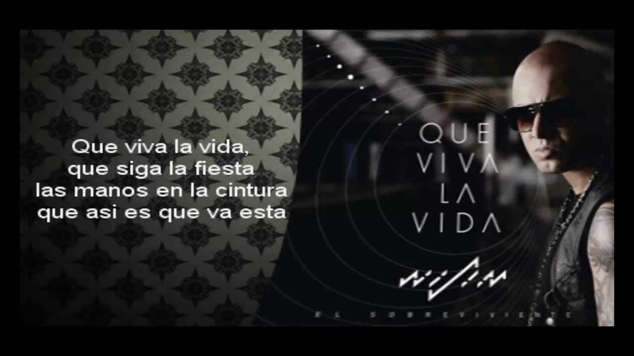 Wisin  Que Viva La Vida Con Letra  YouTube