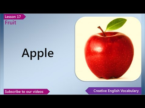 Learn English - English Vocabulary Lesson 17 - Fruit | Free English Lessons, ESL English Lessons