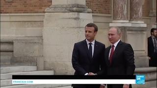 France: Emmanuel Macron welcomes Russian President Vladimir Putin in Versailles