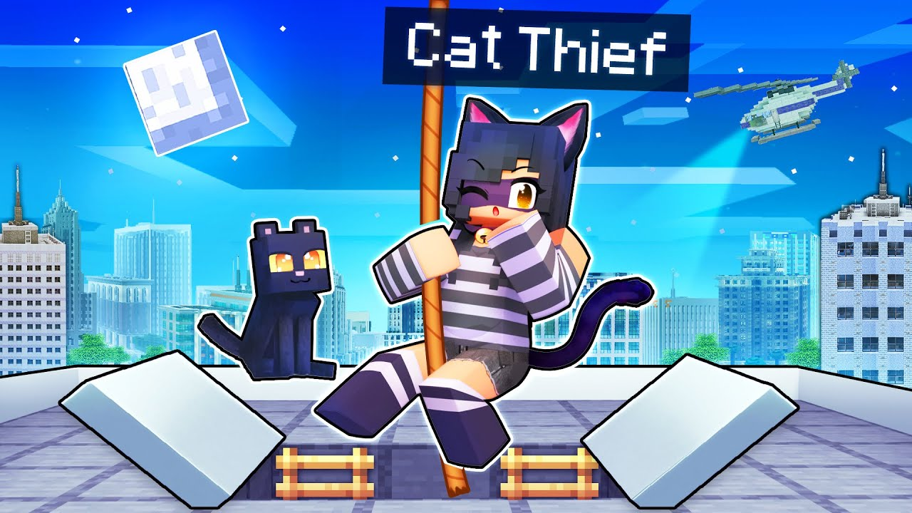 My ULTIMATE CAT Thief Heist In Minecraft!