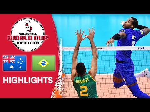 AUSTRALIA vs. BRAZIL - Highlights | Men's Volleyball World Cup 2019