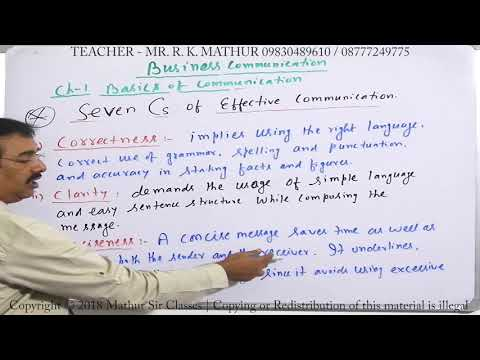 7C's Complete With Meanings | Basics Of Communication | Business Communication | Mathur Sir Classes