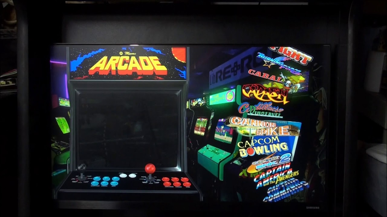 Home Arcade Xtension cabinet with Attract Mode running mame and Redream
