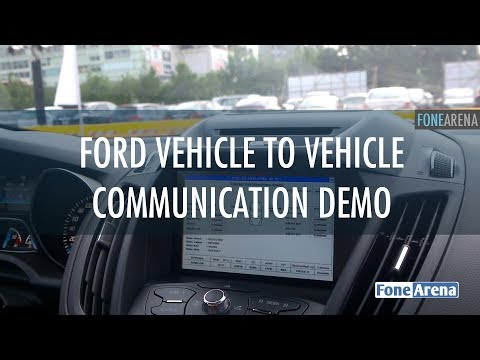 Ford Vehicle to Vehicle Communication Demo V2V