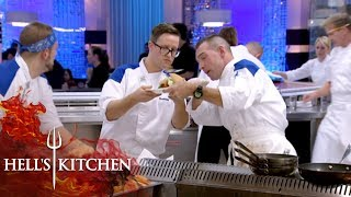 Team Struggles To Tell If A Burger Is Cooked   Hell's Kitchen