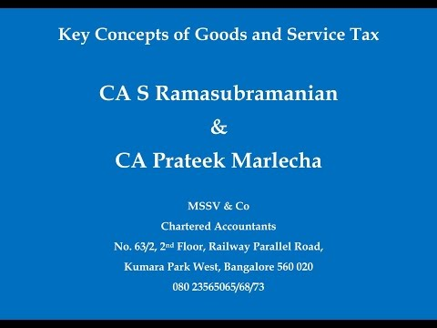 Session 5  - GST - Job Work, TDS and Transitional Provisions under GST - CA Prateek Marlecha