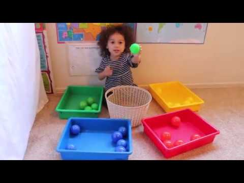 Learning Colors With Play Balls Teaching A 2 Year Old