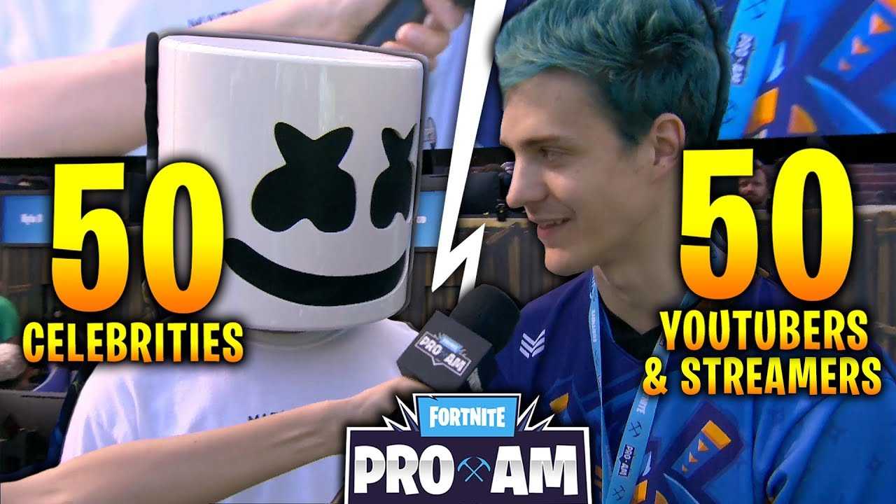 50 youtubers streamers 50 celebrities on fortnite 3 000 000 charity event e3 best moments - famous people that play fortnite