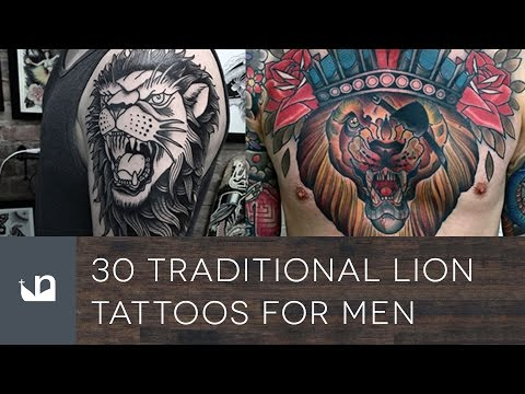 30 Traditional Lion Tattoos For Men