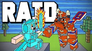 DEFENDING A RAID SOLO - Minecraft Hardcore Part 1
