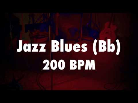 ♫ Jazz Blues Backing Track in Bb Major - Fast Swing ♫